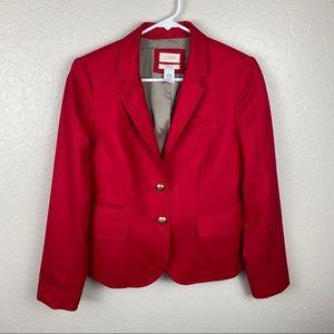 J. Crew Schoolboy Red blazer size 4